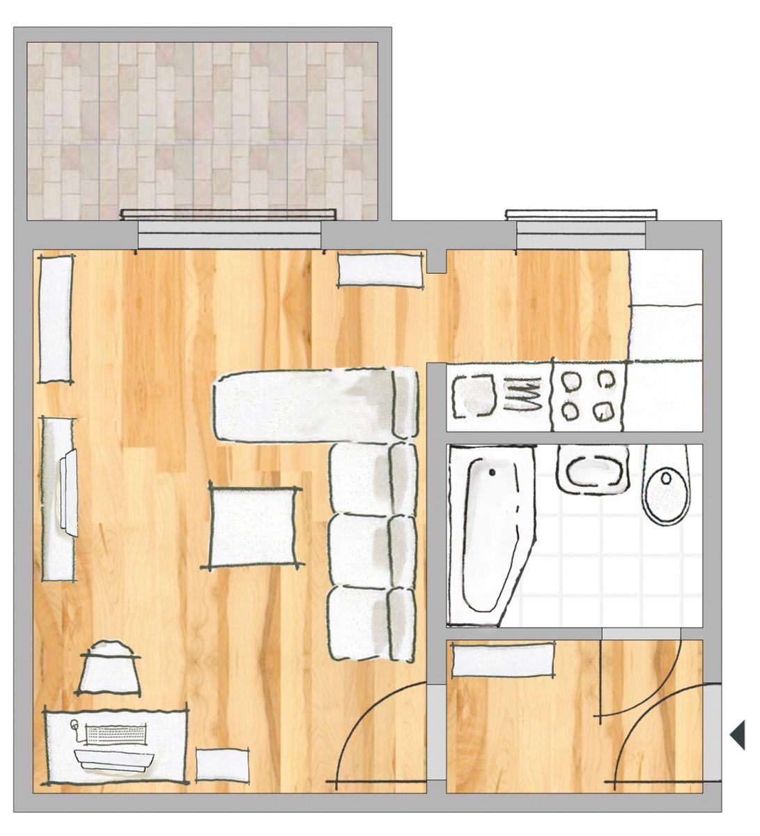 die erste eigene wohnung - guwo guben, Wohnzimmer dekoo
